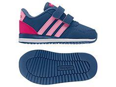 the best attitude 0c0cc 3fe67 Adidas Children s V Jog Rip-Tape Running Shoes, Blue Pink Pink Adidas, Blue