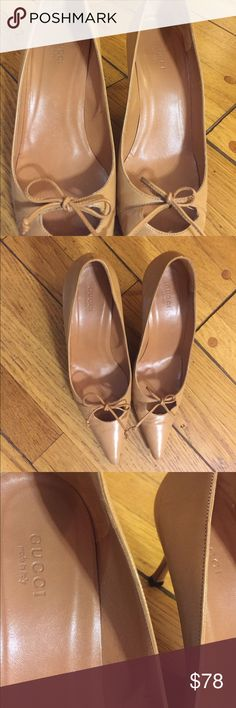 Nude Dolce Gucci Bow Pumps Gorgeous Gucci Leather Pumps. Great condition. 100% authentic. Worn a handful of times. Gucci Shoes Heels