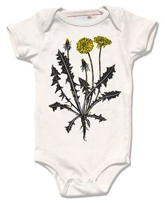 Infant organic dandelion bodysuit