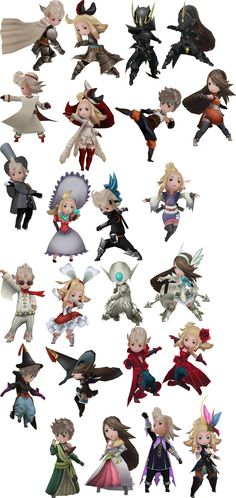 Bravely Default - Jobs I still haven't beaten this game!!! \(#'^')/  <3