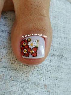 56 Modelos de Unhas de Pés e Mãos combinadas! Perfeito Pink Nail Art, Toe Nail Art, Nail Art Diy, Diy Nails, Pretty Toe Nails, Pretty Toes, White Toenails, Cute Pedicures, Toe Polish