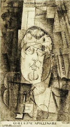Guillaume Apollinaire, Portrait by Louis Marcoussis, c. 1920.