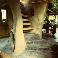 crazy hippy house stairs