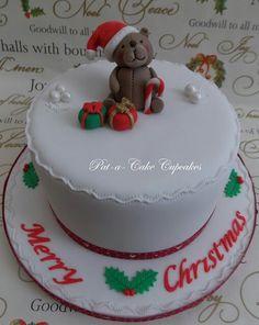 Christmas teddy bear cake