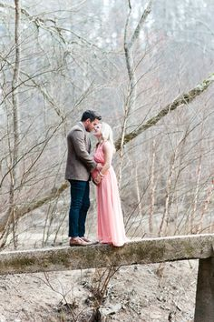 Rustic Atlanta maternity photos by Brita Photography | 100 Layer Cakelet | long, pink formal dress