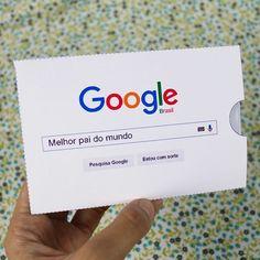 DIY: Cartão Google Melhor Pai do Mundo