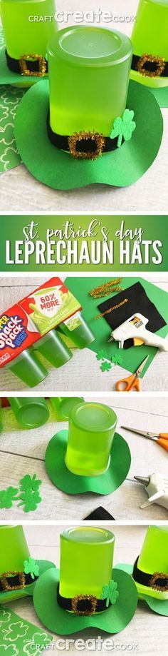 This St. Patrick's Day Treat Leprechaun Hat is the perfect luck of the Irish snack. via This St. Patrick's Day Treat Leprechaun Hat is the perfect luck of the Irish snack. Fete Saint Patrick, Sant Patrick, Holiday Treats, Holiday Fun, Saint Patrick's Day, St Patrick Day Treats, Leprechaun Hats, Irish Leprechaun, Leprechaun Gold