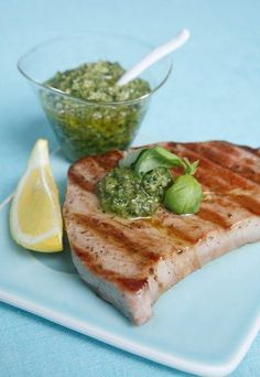 Thon rôti au pesto frais : recette thon rôti au pesto frais - Recettes diabète : 10 recettes pour les diabétiques