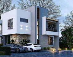 Exterior Villa Modern House Plans 18 Ideas For 2019 Modern Exterior, Exterior Design, Modern Villa Design, Appartement Design, House Front Design, Dream House Exterior, Modern House Plans, Modern House Facades, Facade House