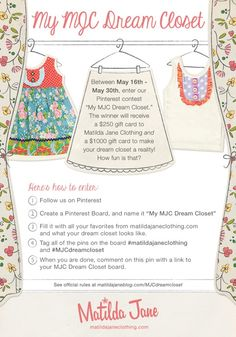See official rules at matildajaneblog.com/MJCdreamcloset  #matildajaneclothing   #MJCdreamcloset