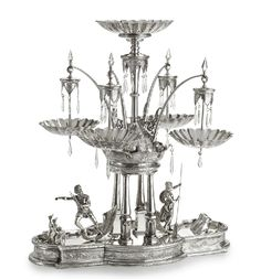 THE NEPTUNE EPERGNE: A MONUMENTAL AMERICAN SILVER-PLATED CENTERPIECE, MERIDEN BRITANNIA CO., MERIDEN, CONNECTICUT, CIRCA 1876