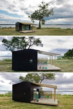 The Swedish Mini House. A prefabricated tiny house measuring just 161 sq ft. The home is sent to you as a kit, where it takes about two days to assemble. Costs $26,675 USD.