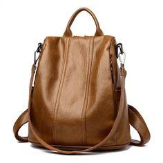 50dc777106a8 Women Anti-Theft Backpack Waterproof Shoulder Bag Leather Handbag Girls –  PILGRMR Hátizsákok, Kézitáskák