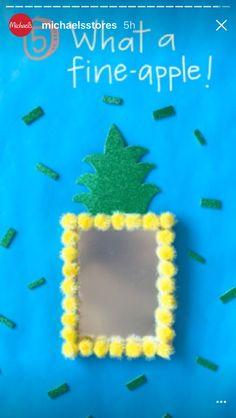 Craft a pineapple 🍍 locker mini mirror Locker Mirror, Locker Decorations, School Lockers, Summer Crafts, Big Kids, Pineapple, Mini, Pine Apple, Children