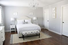 Gold room decor diy black and white bedroom gallery also picture awesome all classy interior pink Decor, Gray Bedroom Walls, White Bedroom Decor, Gray Bedroom, Striped Walls, Gray Striped Walls, Simple Bedroom, Bedroom Decor, Gold Room Decor