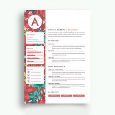 Florist Resume Professional Floral Assistant Templates To Showcase Your Talent, Professional Floral Designer Templates To Showcase Your Talent, Florist Sample Resume 1 Basic Resume Examples, Professional Resume Examples, Modern Resume Template, Resume Template Free, Free Resume, Conception Cv, Beau Cv, Cv Simple, Simple Resume