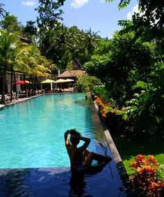 Bali Ubud  Jungle Fish pool  Garden