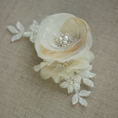 Bridal headpiece Bridal hair accessories Wedding by LeFlowers