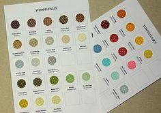 scrapperia: Stempelfarben Overview (Ink Pad Color Chart)
