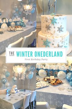 How to have a winter wonderland party! GORGEOUS!! Pictures, menu, and links to decor! Winter ONEderland birthday party.