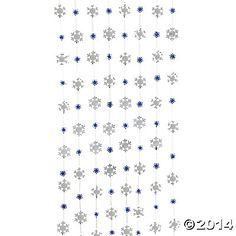 Snowflake String Decorations - Oriental Trading