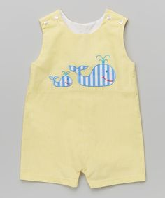 This Yellow Gingham Whale John Johns - Infant & Toddler by Velani Classics is perfect! #zulilyfinds