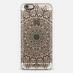 BLACK BOHO MANDALA PHONE CASE // CYSTAL CLEAR PHONE CASE FOR CASETIFY BY NIKA MARTINEZ