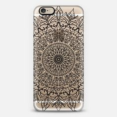 BLACK BOHO MANDALA PHONE CASE // CYSTAL CLEAR PHONE CASE FOR CASETIFY BY NIKA MARTINEZ
