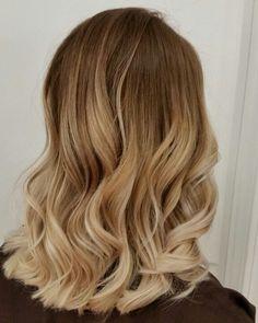 Blonde brunette balayage hair painting