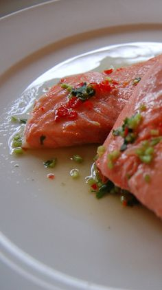 Splurge on sockeye salmon! Its deep red flesh is much leaner and has a more pronounced flavor than other wild varieties. Round out its powerful flavor with a fiery-sweet Thai sauce from Taste Buddies.