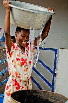 We in the developed world cannot imagine how happy - content - someone can be to have clean water. Something we take for granted, millions of others know to be a hard-won gift.
