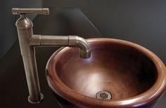 Timaco 8066 1B Hoch Mischbatterie Wasserhahn Waschtischarmatur Wasserfall  Armatur Einhandmischer Schwarz Öl Eingerieben Bronze Für Bad: Amazon.de: U2026