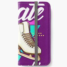 'Funny Figure Skating: In A Love Skate Relationship' iPhone Flip-Case von PiolettaRedArt Graphic T Shirts, Iphone Flip Case, Iphone Cases, Figure Skating, Skate, Cool Designs, Relationship, Funny, Fitness
