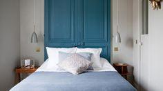 portes bleues tete de lit chambre hotel henriette paris