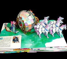 cinderella's horse drawn carriage, pop up book