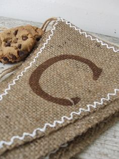 COOKIES Burlap Banner Pennant Bunting by funkyshique on Etsy, $28.00