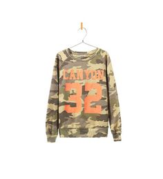 Image 1 of CAMOUFLAGE VELOUR SWEATER from Zara