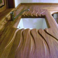 Meson cocina madera