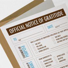 FlyTrap One - Funny Thank You Card, Notice of Gratitude (COT-K007). $4.50, via Etsy.