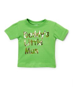 Apple Camo 'Daddy's Little Man' Tee - Infant Toddler & Boys