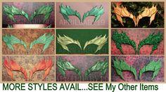Poison Ivy Mask Leaves GREEN w/ Glitter Trim Leaf by Montyfam6