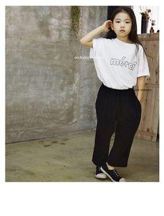韓国子供服 オルキデスール ジュニア | merci刺繍Tee | オリジナルリバティ雑貨 |orchidees soeurs