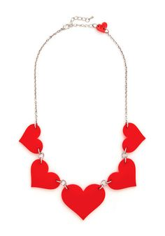 To Her with Love Necklace, #ModCloth Can use shrinky dinks and make different shapes for holidays, like four leaf clovers for St. Patrick's day, Pumpkins for Halloween, Stars for 4th of July, the list is endless!