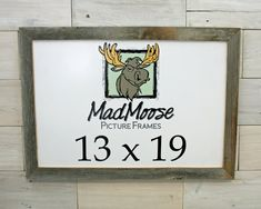 MadMoose on Etsy, Barn Wood Picture Frame Classic with (or without) Plexiglass Barn Wood Picture Frames, Picture On Wood, Weird Shapes, Weathered Wood, Frame Sizes, Furniture Making, Hanger, Classic, Prints