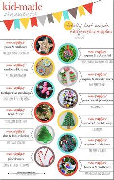 kid-made: last minute ornaments | @mamamissblog