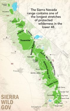 Stanislaus National Forest Emigrant Wilderness Map
