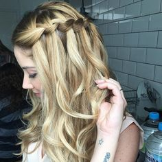 Waterfall braid ❤️ #details da semana passada