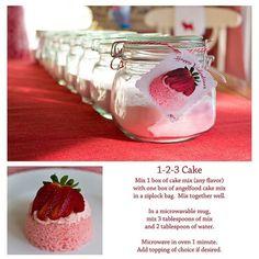 1-2-3 Cake...great tea party favor idea...