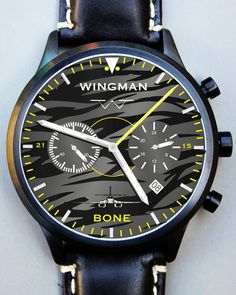 Another one of our custom watch designs. 37th Bomb Squadron. If you're interested in a custom watch, go to wingmanwatch.com and click on custom request. #wingmanwatches #watchesofinstagram #aviationwatch #outdoors #military #pilotwatch