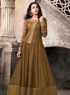 Anarkali Suit: Buy Latest Designer Anarkali Suits for Women Online Silk Anarkali Suits, Anarkali Dress, Pakistani Dresses, Indian Dresses, Long Anarkali, Abaya Fashion, Indian Fashion, Fashion Dresses, Fall Fashion